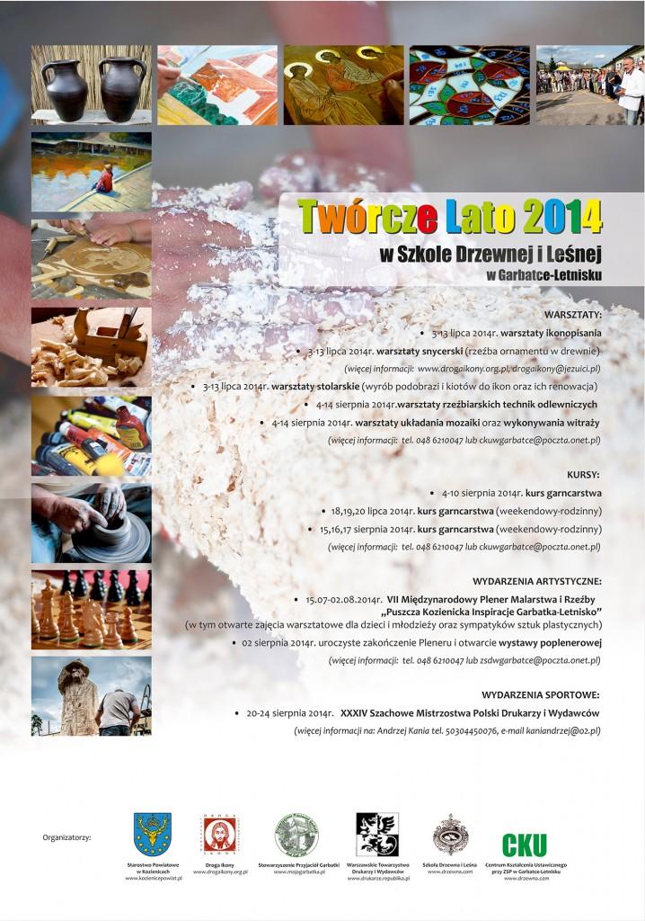 Twórcze Lato plakat 2014